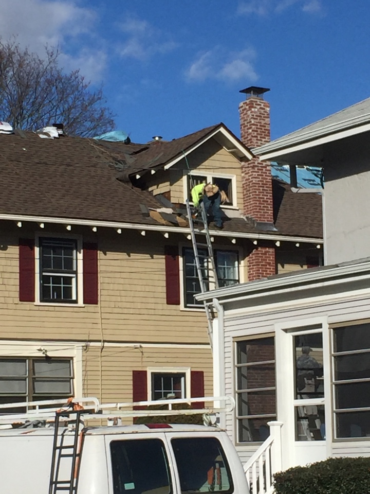 Salem, MA - Hey it's Chris from A&A Services reporting from Salem Ma on a reroofing project. This home was a victim of ice dams last winter. There are 2 dormers in this home that the flashing was no good. That's why we stripped up 2+ rows of wooden shingles on the dormers so we can run ice and water shield up the wall and then step flash with alum step flashing. Then we install new red cedar preprinted wooden shingles. New roof and flashing this customer will receive a 50 year warranty from GAF. Thanks Chris
