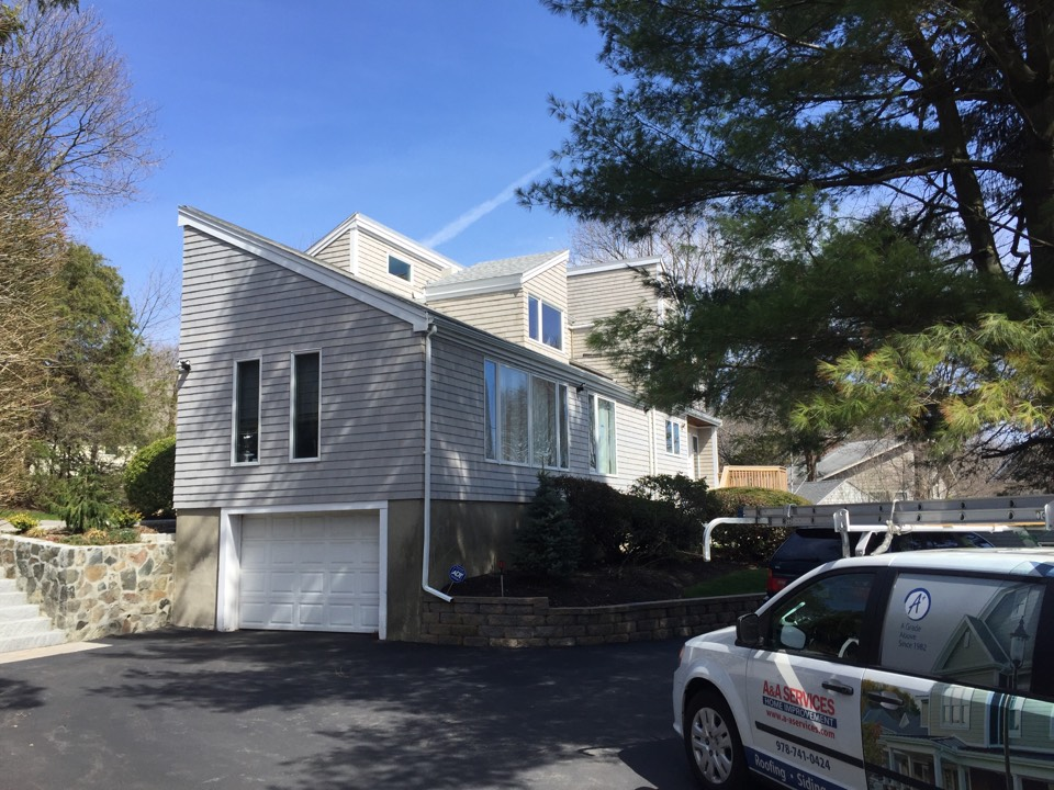Marblehead, MA - Estimating an Asphalt roof replacement project on a contemporary home in Marblehead!