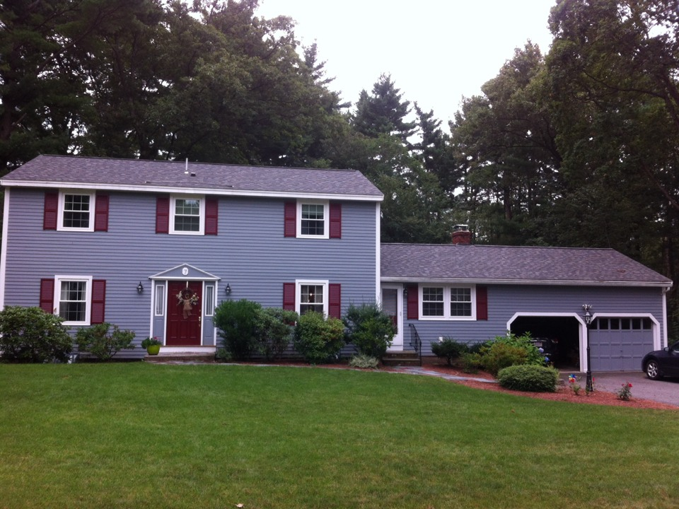 Andover, MA - Just started gutter shutter replacement for a family in Andover ma