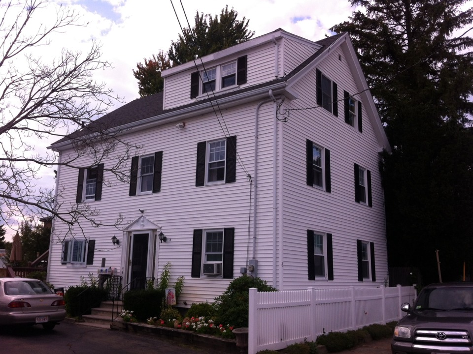 Peabody, MA - Just started gutter replacement for a family in Peabody ma