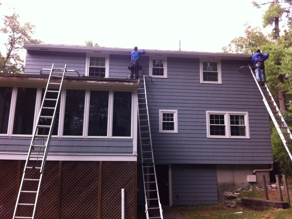 Andover, MA - Installing gutter shutter system for a family in Andover ma