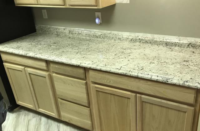 Lee's Summit, MO - Basement Kitchen remodel- Belanger laminate countertop, perfect for movie nights and parties!
