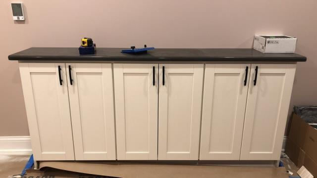 Raymore, MO - Cabinet install during full house remodel.