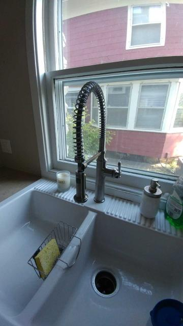 Kansas City, MO - Kohler Pro-Style pull down faucet for your new kitchen.  Wash dishes and clean fruits and vegetables with ease.
