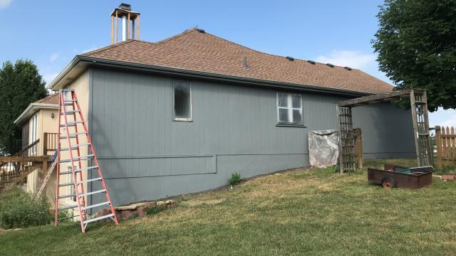 Raymore, MO - New exterior paint by Sherwin Williams.  Durable and long lasting.