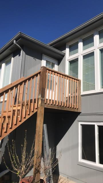Raymore, MO - Cedar railing- functional and looks great too.