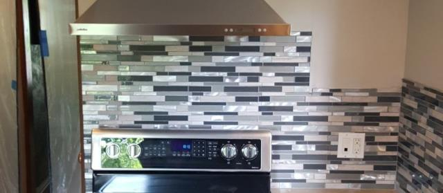 Kansas City, MO - Add a back splash to your kitchen for easy maintenance- plus, it looks great as well!