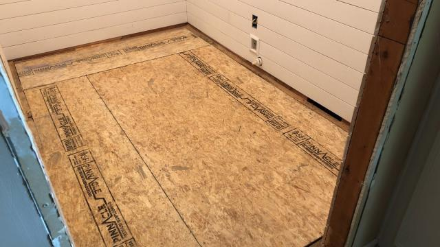 Lee's Summit, MO - Proper installation of a subfloor helps to eliminate improper nailing, buckling and squeaks.