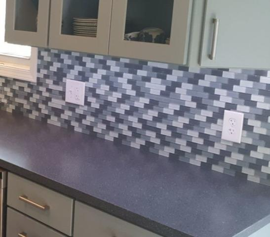 Kansas City, MO - A tile backsplash is a durable and beautiful choice for your kitchen.  It adds color and style, plus it's easy to maintain.