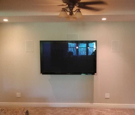 Raymore, MO - For more room space, mount TV on the wall instead of setting on a stand.  It gives the room a larger feel.