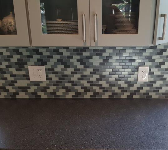 Kansas City, MO - A kitchen backsplash is a great way to protect your walls and make for easy cleaning.