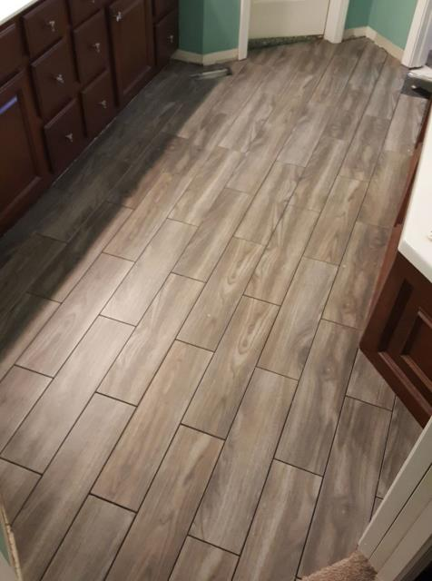 A great option for a bathroom remodel is the snap together tile. This tile is a floating floor that can be installed over most existing solid floor surfaces without the need for messy mortar or heavy underlayment. In virtually no time, you can transform your living space with a beautiful, durable, long-lasting porcelain tile floor that offers a stunning upgrade for any room.