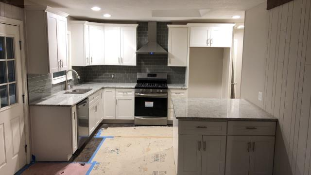 Sometimes a whole renovation is needed.  New cabinets, flooring, backsplash and appliances for your kitchen is a great investment for you that automatically adds value to your home.