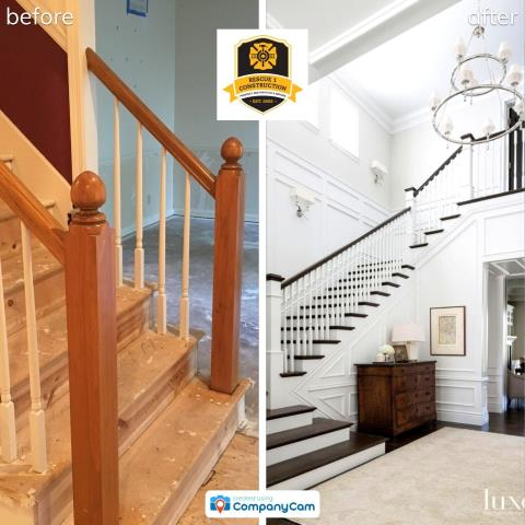 Dreaming of a new design for your home?  Go online for ideas and inspiration.  Here, a client wants to update a staircase and gave these photos as a reference of what they wanted.