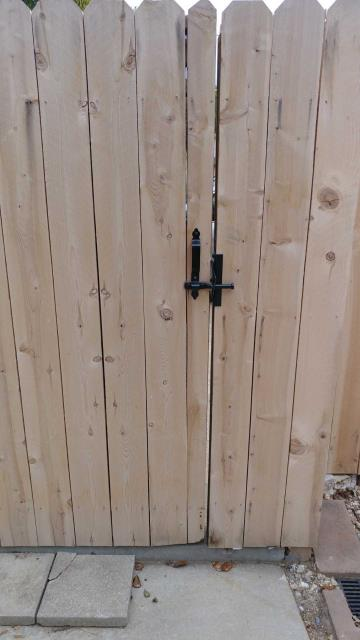 Cedar fencing is a classic style that lasts a long time and looks great.
