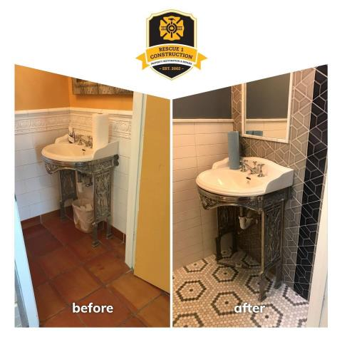 Changing floor and wall tile in a bathroom can really freshen things up.