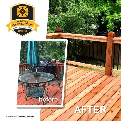 A deck can add a high amount of design to any home and also adds an extra area to lounge.