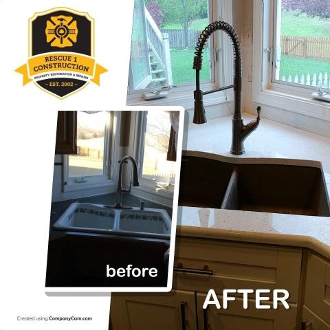 Updating to an undermount sink can make cleaning up your counters just a little bit easier.
