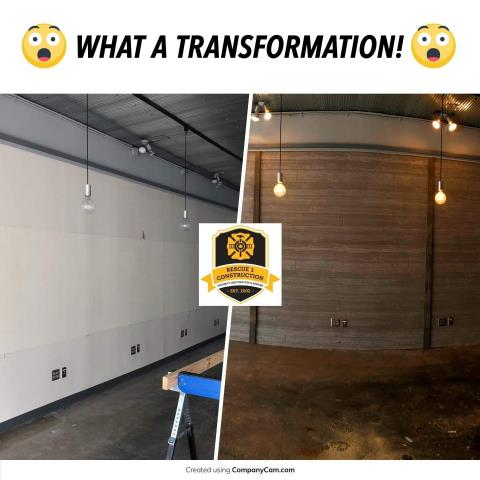 Adding wood paneling to the wall really makes this space interesting!