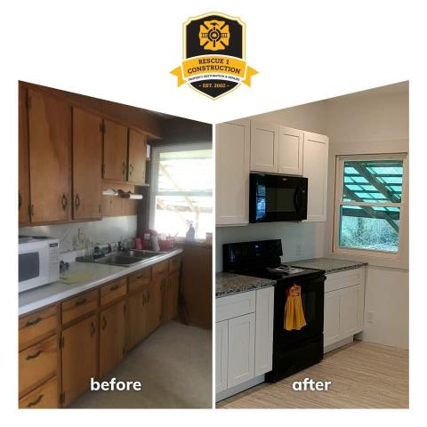 This is a huge transformation!  This kitchen is very inviting.