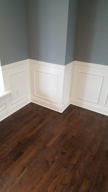Wainscoting is sometimes used to make a space feel more formal.