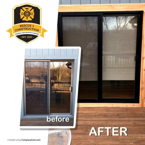 Changing the sliding glass door, made a huge change to the look of this house.