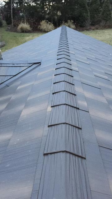 A metal shake roof gives you more durability with the traditional look of shingles.