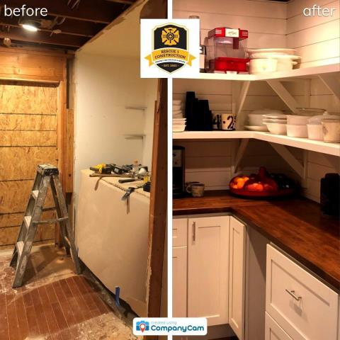 Lee's Summit, MO - In this renovation, extra hall space was transformed into a pantry/laundry room.