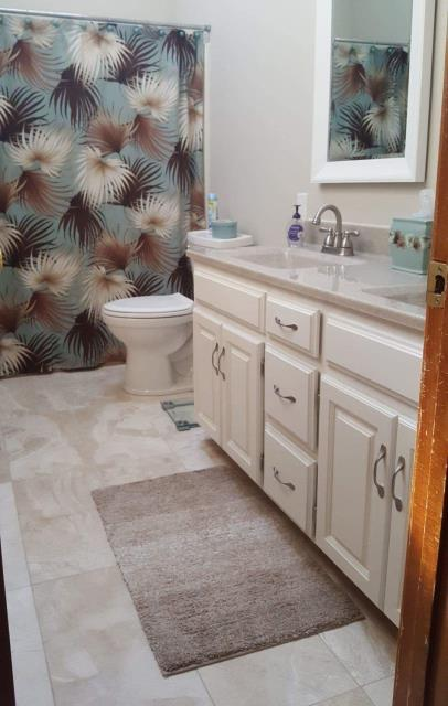 Beautiful bathroom remodel completed by Rescue 1 Construction.