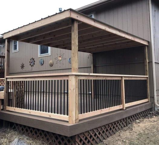Having a covered deck can shield you from sun and rain.