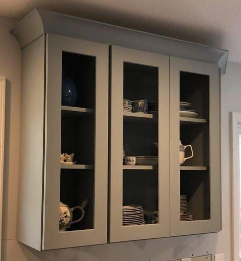 Cabinets can come in any color you want.  You can also pick from many different styles.  There is arched, bead board, cathedral, shaker, glass, or slab.