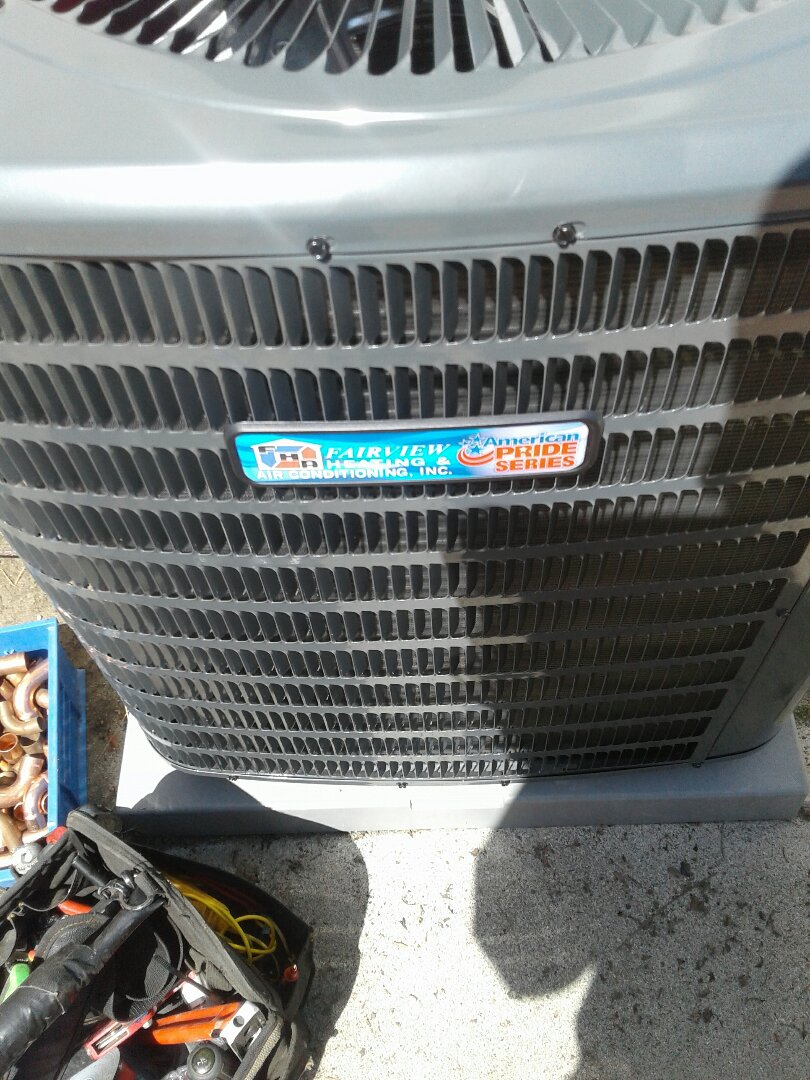 Replacing an old Rheem system with one of our new made in the USA American Pride systems picture of it