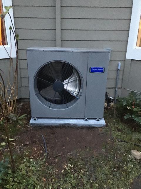 Redmond, WA - Installation of American Standard 19 SEER Heat Pump and Electric Air Handler