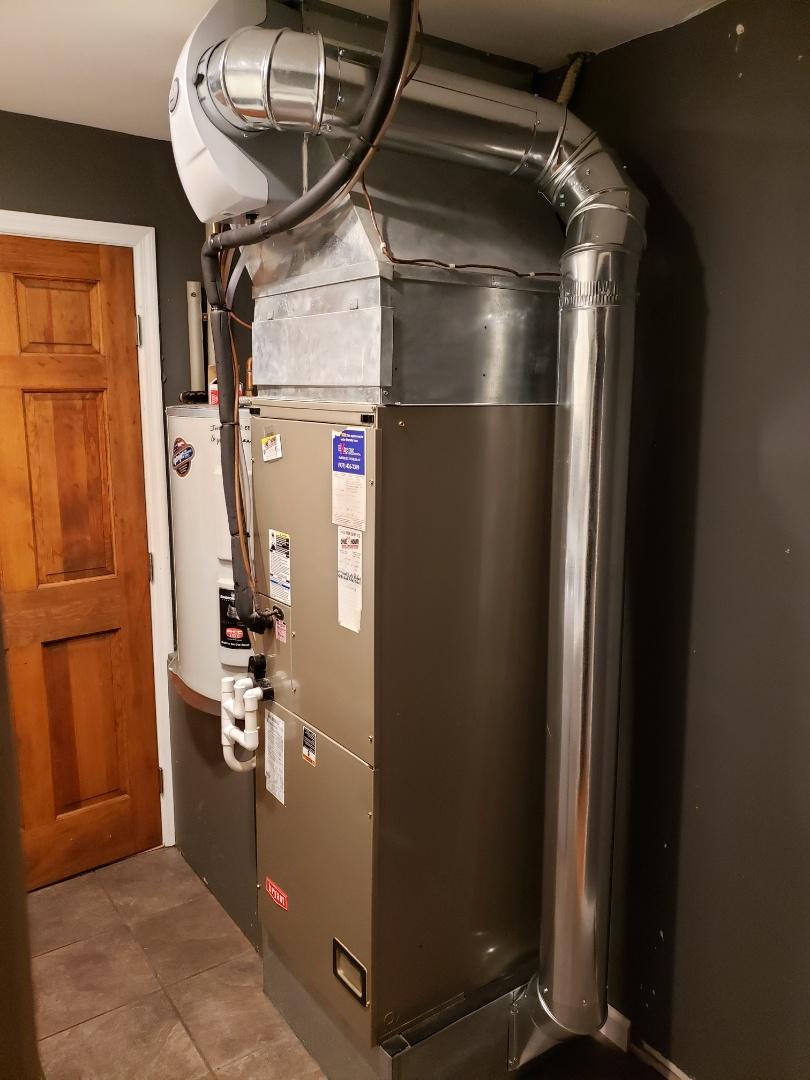 Humidifier install.