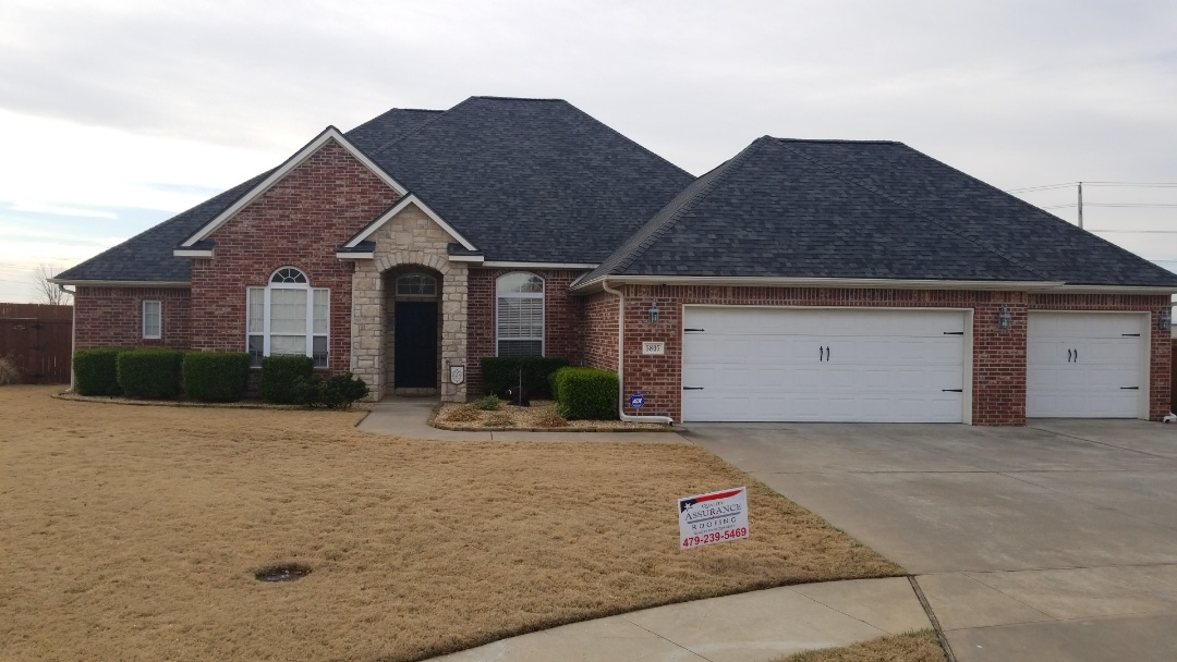 Rogers, AR - This beautiful Roof was Replaced due to Last years Hail Storm In Rogers Ar. We Installed a Owens Corning Duration Tru Def Estate Gray with Rizer Ridge and upgraded Ridgevent. Call Quality Assurance Roofing for a Free Roof Inspection!  Www.myassuranceroofing.com 479.239.5469