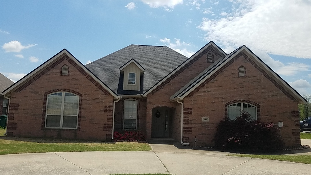Springdale, AR - Full roof replacement complete for customer Roger White of Crye-Leike Realtors. Beautiful home in Bethel Heights, now with a beautiful roof.
