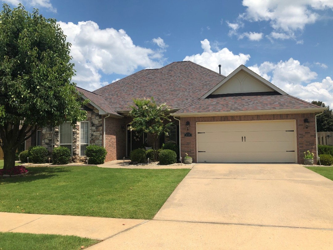 Rogers, AR - Full roof replacement complete in Rogers,AR. This is an Owens Corning Duration shingle (Merlot) Quality Assurance Roofing was able to get the entire roof paid for by the home owners insurance company due to hail damage.  Call Quality Assurance Roofing today for your free  inspection (479-239-5469)