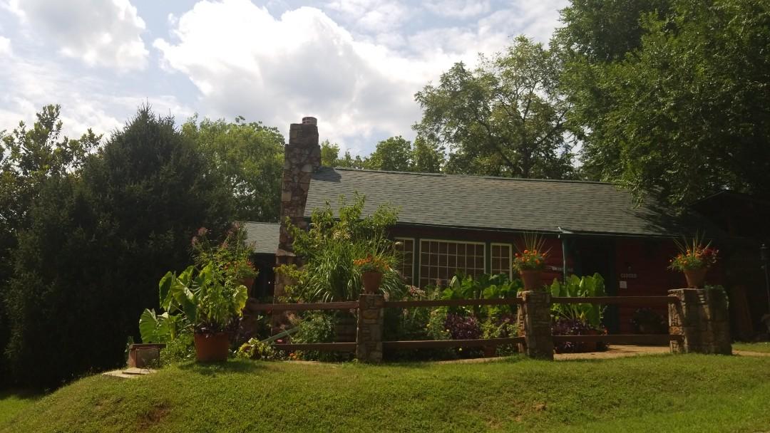 Eureka Springs, AR - Installed new Owen's Corning roof on Gaskins Cabin Steakhouse in Eureka Springs AR