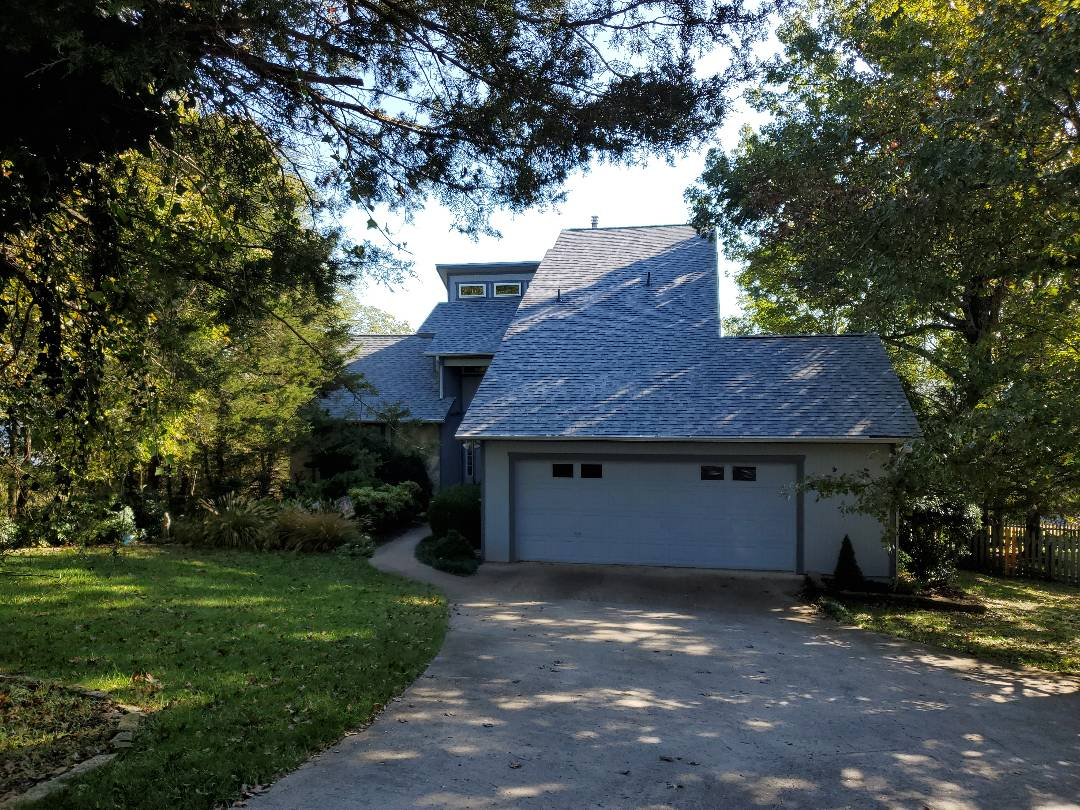 Holiday Island, AR - Full roof replacement complete in Holiday Island. This is an Owens Corning Oakridge shingle (Sierra Gray). Call Quality Assurance Roofing today 479.239.5469