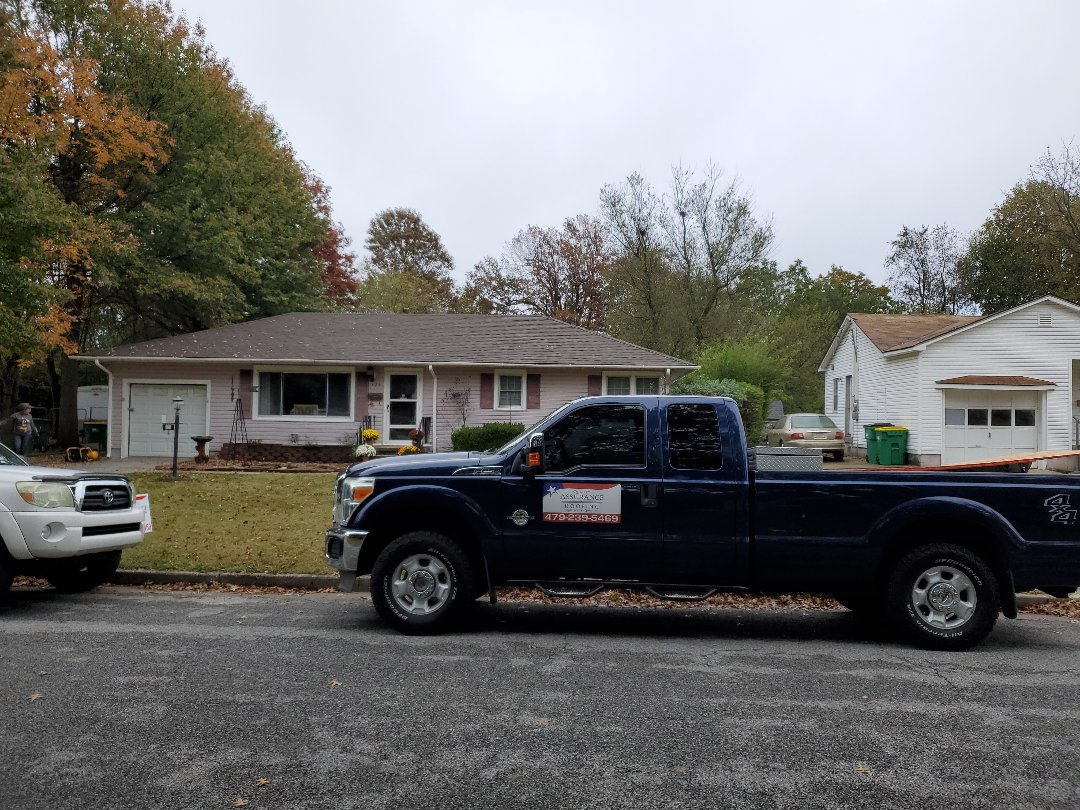 Springdale, AR - Full roof replacement complete in Springdale, AR. This is an Owens Corning Oakridge shingle (Teak). Quality Assurance Roofing was able to get the entire roof paid for by the home owners insurance company due to hail damage. Call Quality Assurance Roofing today for your free inspection.  479.239.5469