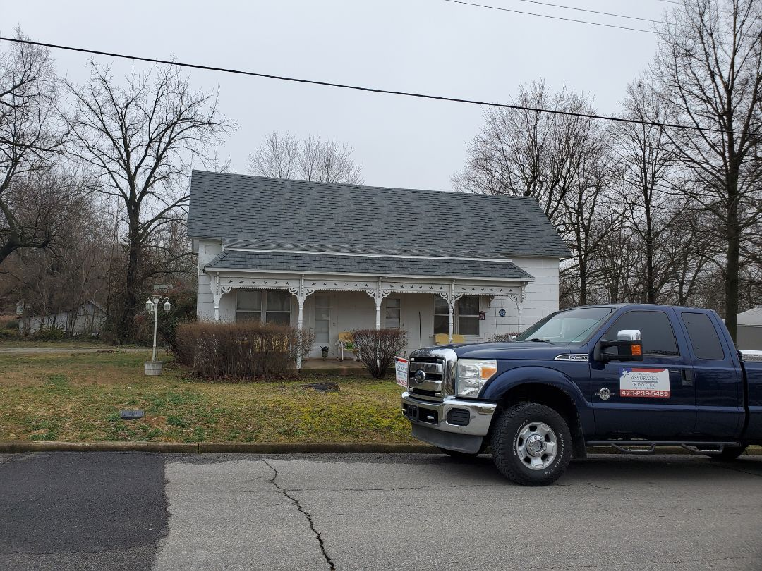 Berryville, AR - Full roof replacement complete in Berryville. This is an Owens Corning Oakridge shingle (Estate Gray) Call Quality Assurance Roofing today for your free estimate. (479.239.5469)