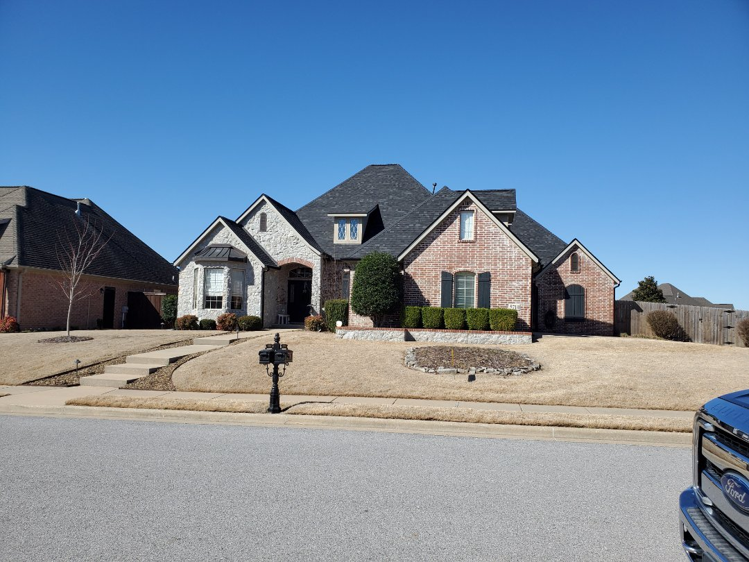 Rogers, AR - Full roof replacement complete in Rogers. This is an Owens Corning Oakridge shingle with Rizer Ridge (Onyx Black). Quality Assurance Roofing was able to get the entire roof paid for by the home owners insurance company due to hail damage. Call Quality Assurance Roofing today for your free inspection at 479.239.5469