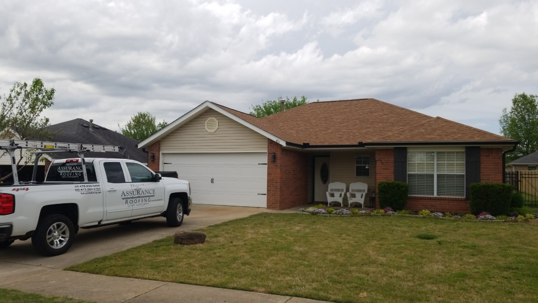 Bentonville, AR - Installed new Owens Corning Oakridge roof.