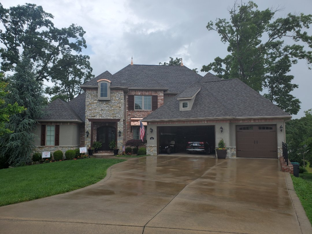 Rogers, AR - Full roof replacement complete in Rogers. This is a CertainTeed Impact Resistant shingle (Weathered Wood). Quality Assurance Roofing was able to get the entire roof paid for by the homeowners insurance company due to hail damage. Call Quality Assurance Roofing today for your free inspection. (479-239-5469)