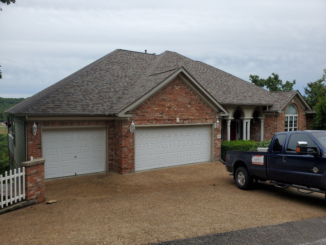 Holiday Island, AR - Another full roof replacement complete in Holiday Island. This is an Owens Corning TruDefinition Duration shingle (Driftwood)  Call Quality Assurance Roofing today at (479-981-2189)