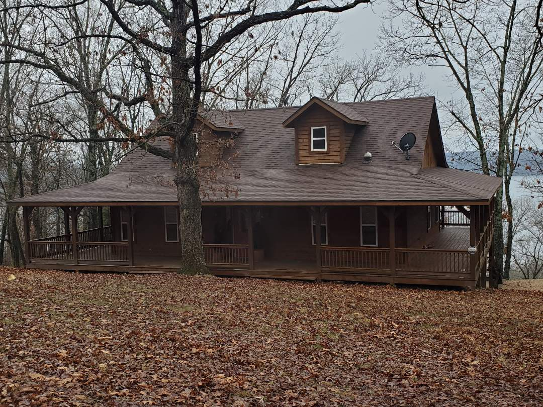 Eureka Springs, AR - Another full roof replacement complete in Eureka Springs. This is a Malarkey Vista Impact Resistant shingle (Antique Brown). Call Quality Assurance Roofing today for an estimate or a free no obligation inspection.