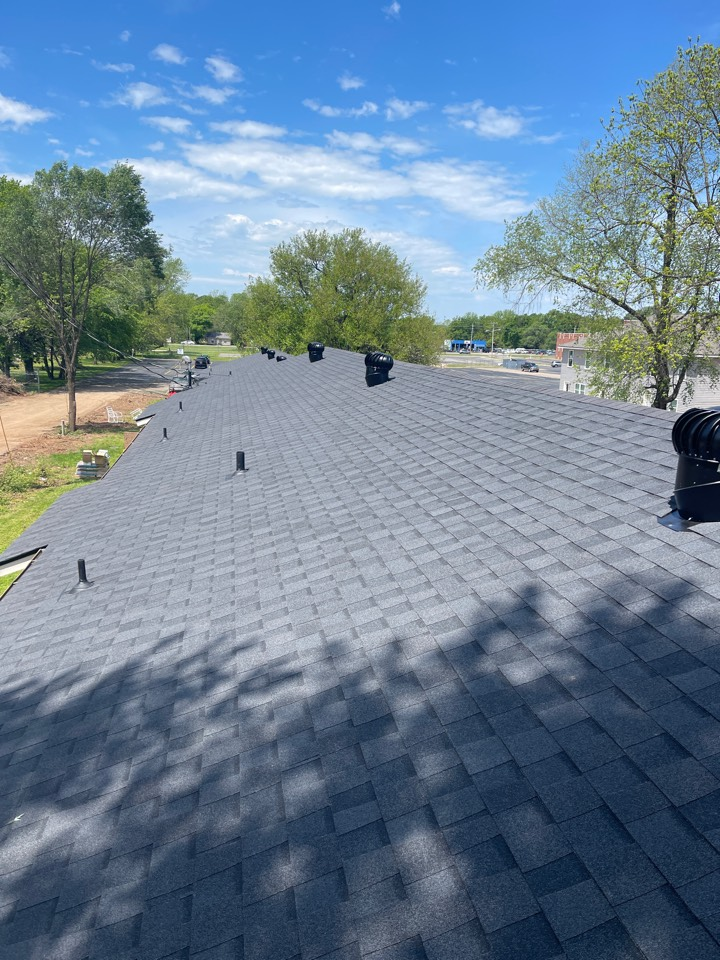 Rogers, AR - We just completed eight units for one of our favorite management companies in Rogers Ar. We replaced old leaking metal roofs with a new CertainTeed Landmark Shingle. Call Quality Assurance Roofing for any property management needs.