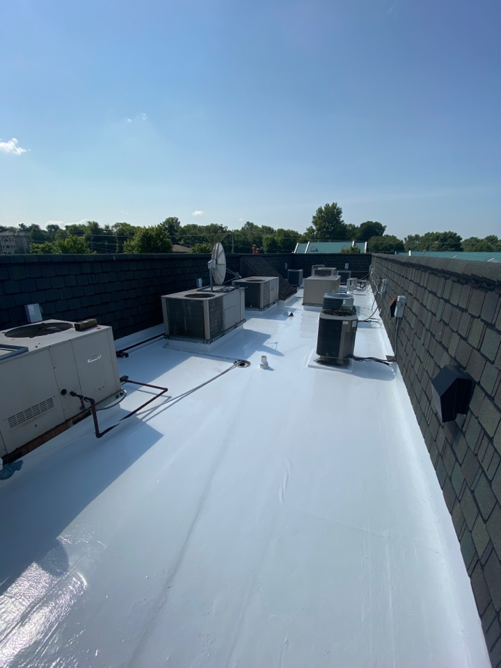 Springfield, MO - Another complete fluid applied Polyglass 20 year system done by Quality Assurance Roofing in Springfield Mo