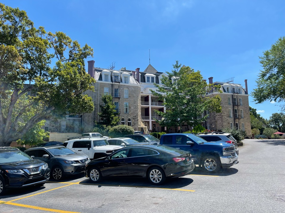 Eureka Springs, AR - QAR just completed a high detailed silicone roof system from Progressive Materials on the Historic Crescent Hotel in Eureka Springs AR.