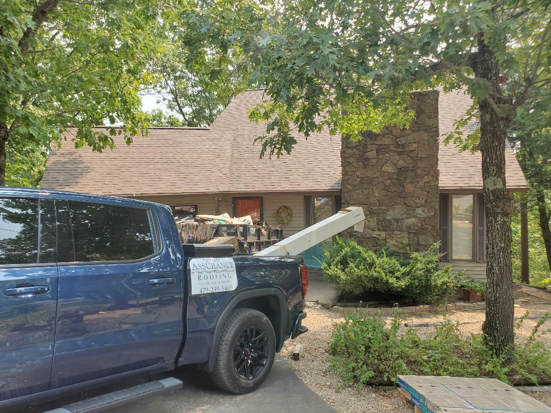 Holiday Island, AR - Full roof replacement complete in Holiday Island. This is a CertainTeed Landmark shingle (Heather Blend). Call Quality Assurance Roofing today.